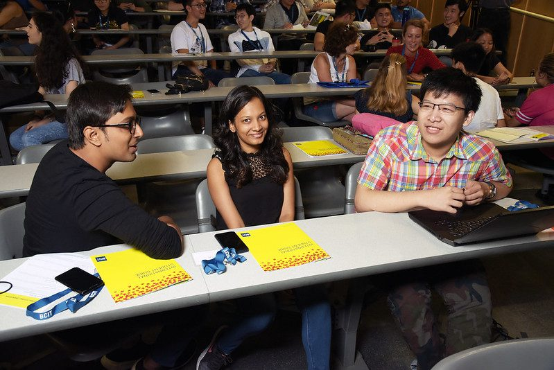 New students meeting each other at International Orientation